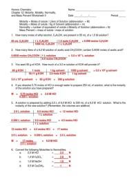 worksheet. Molality Worksheet. Worksheet Fun Worksheet ...