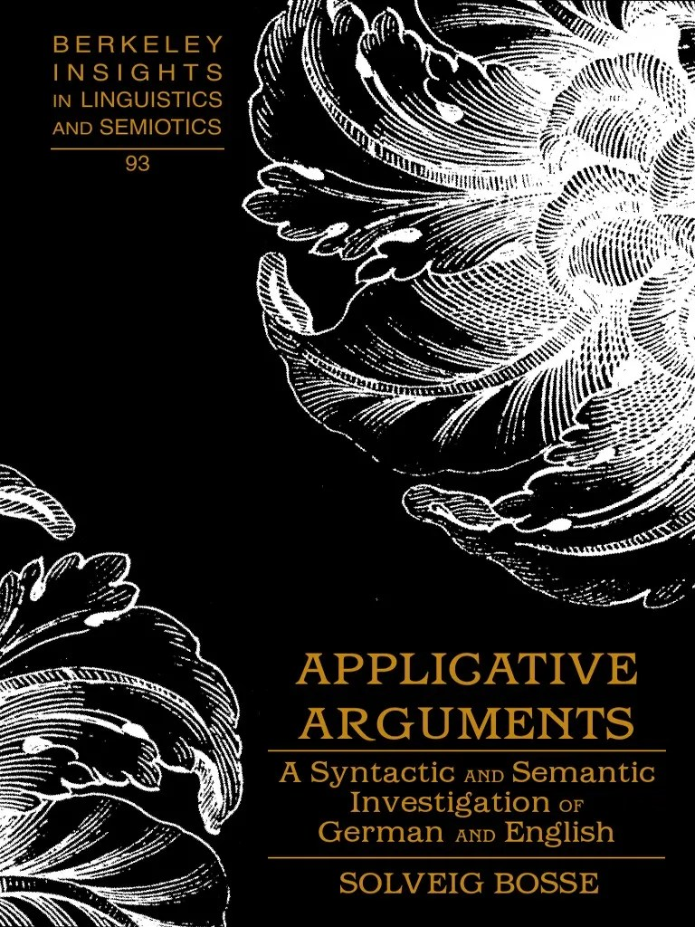 In Meiner Küche Wird Getanzt Poster Applicative Arguments A Syntactic B Ok Org Semantics English