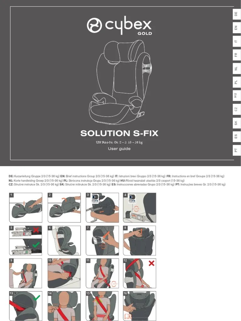 Isofix-kindersitz Viaggio 1-2-3 Via Manual Solution S Fix Transport Safety Road Safety