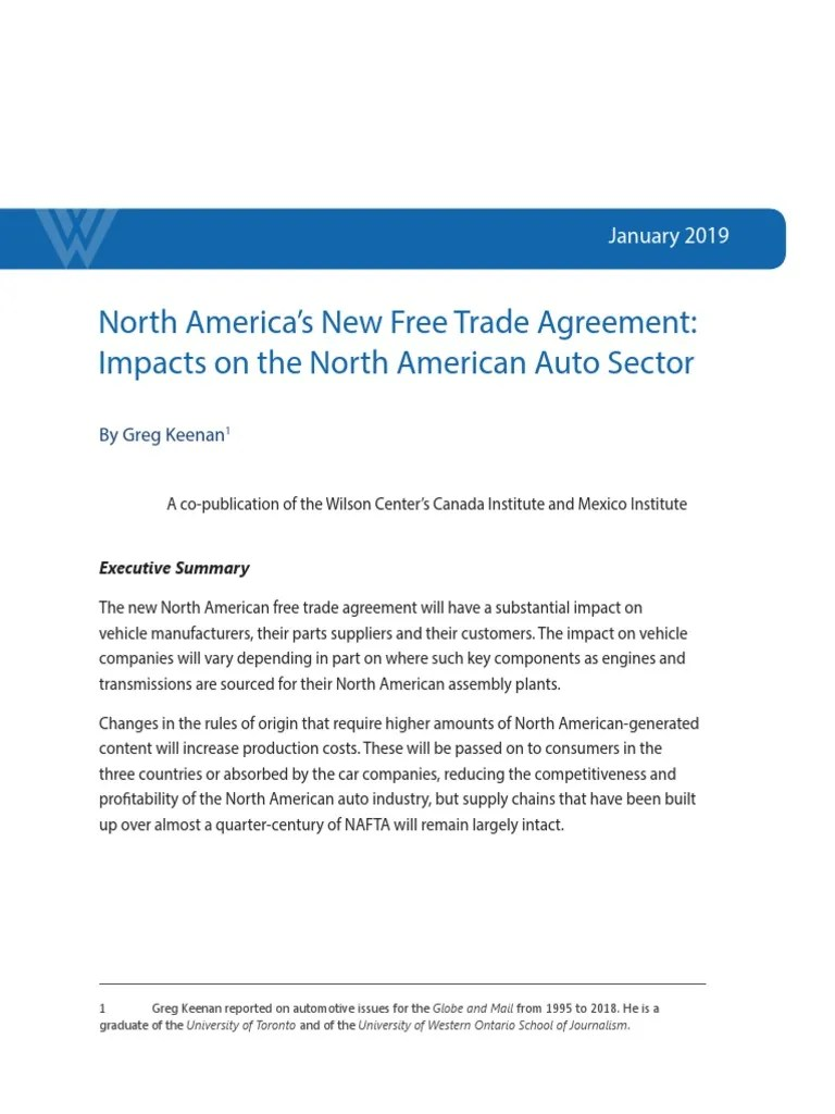 Electric Vehicle Manufacturers North America North America S New Free Trade Agreement Impacts On The