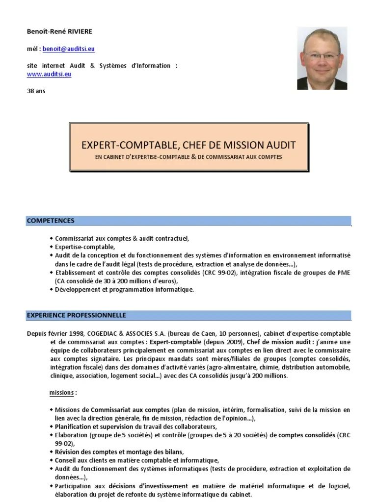 exemple de cv chef de mission