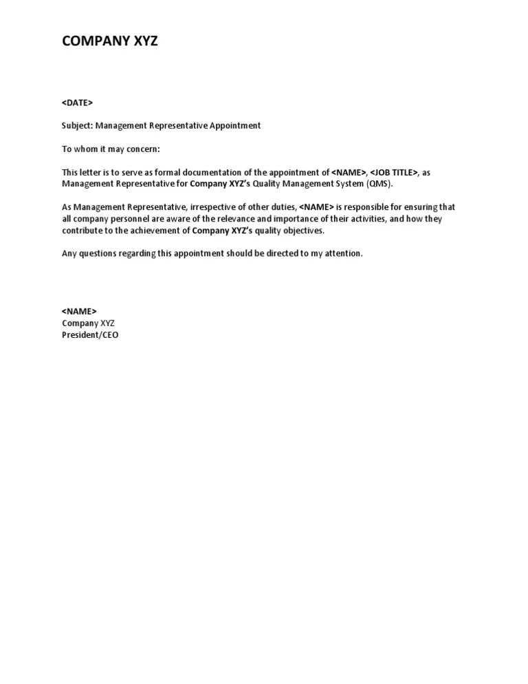Appointment Letter Sample Bangladesh  Example Of Resume In Business