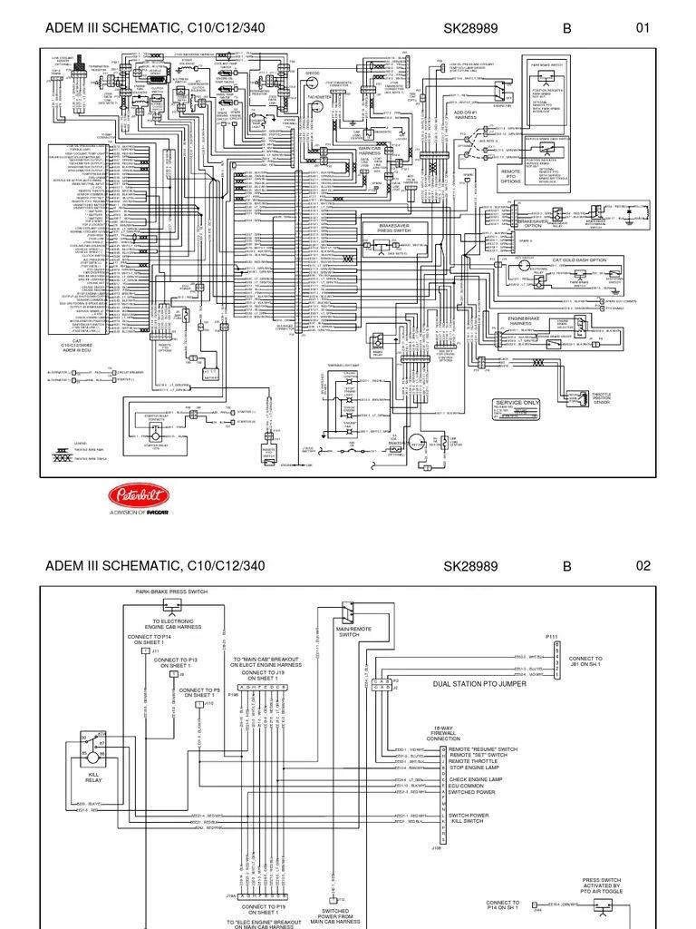caterpillar motor wiring schematic