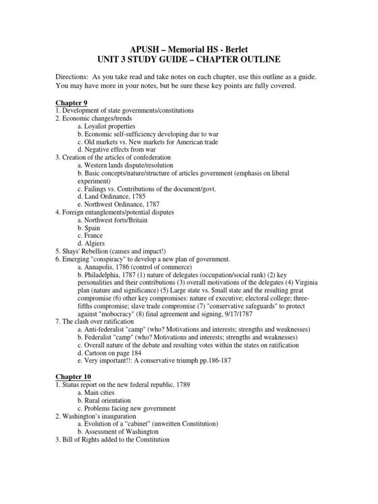 Study Guide 3 Unit 3 Study Guide Thomas Jefferson Federalist Party