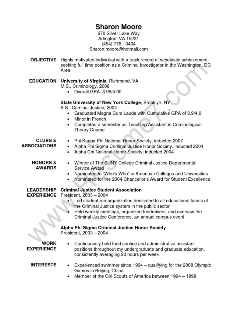 resume sample document management