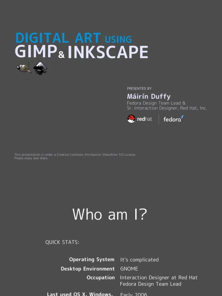 Inkscape Gimp Tutorial Creative Commons Creative