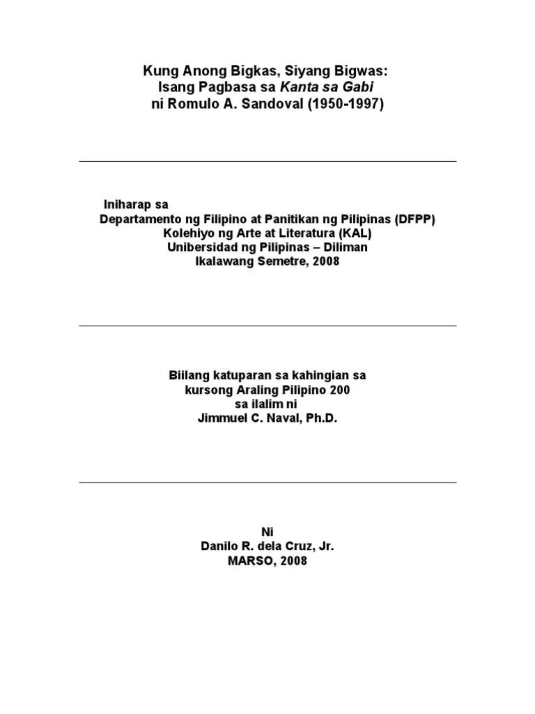 tagalog resume format