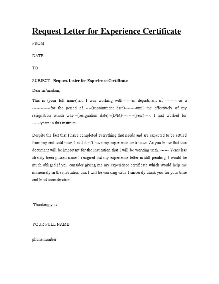 Experience Letter With Salary Certificate – Salary Certificate