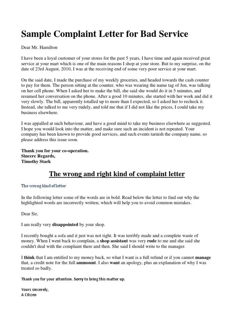 Sample Demand Letter Claim For Vehicle Damage After A Car Sample Complaint Letter For Bad Service Politics