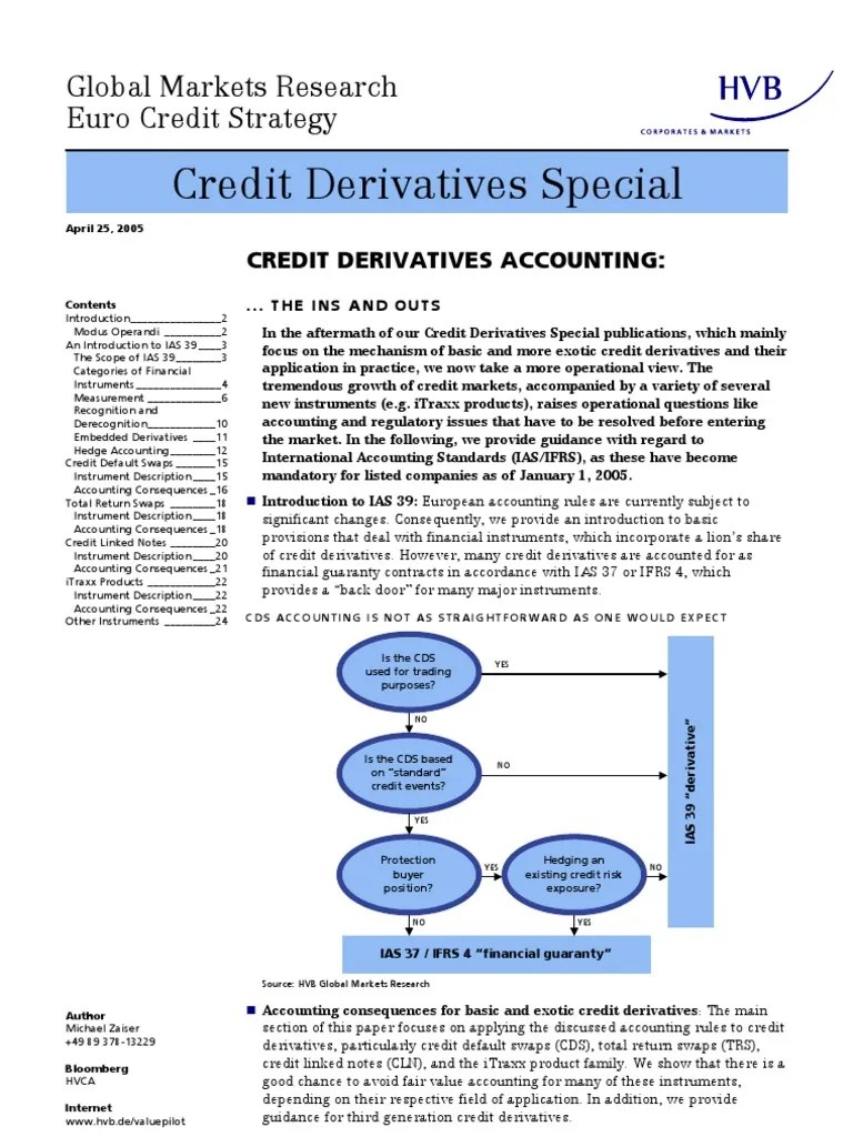 Cash Pool Hypovereinsbank Credit Derivatives Accounting Hvb Group Derivative Finance