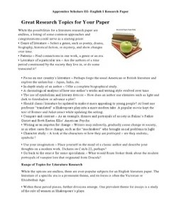 HELP! what are some interesting american history term paper topics?