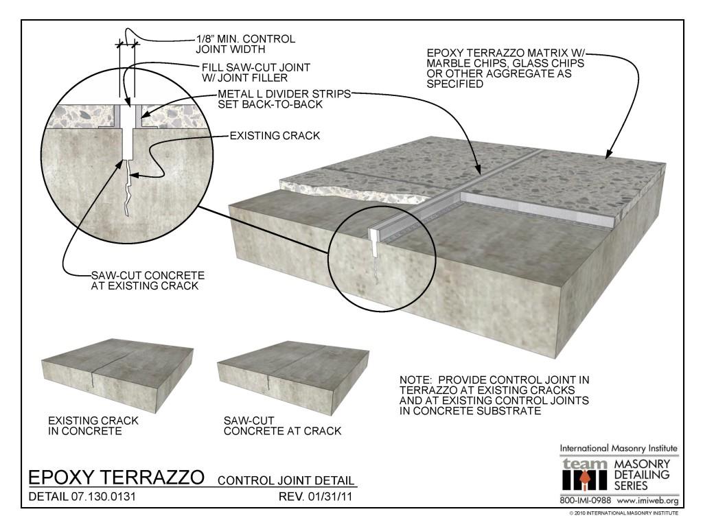 071300131 Epoxy Terrazzo Control Joint Detail