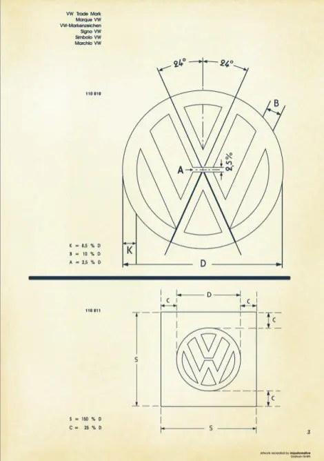 Vintage Iphone Wallpaper Recreated Vintage Vw Logo Specification Poster For Download