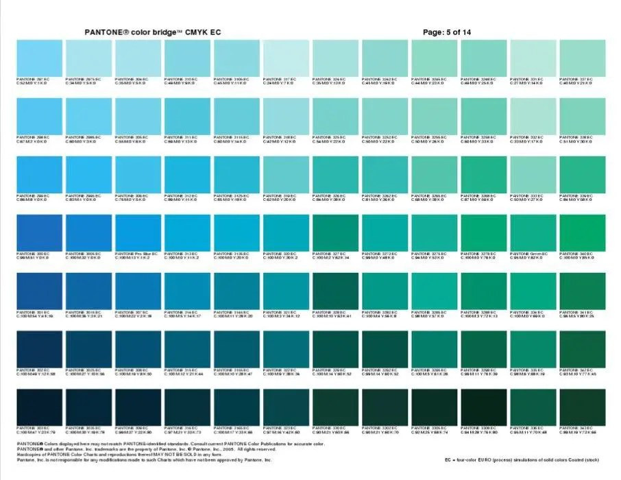 pantone color chart blue - Onwebioinnovate - sample pms color chart