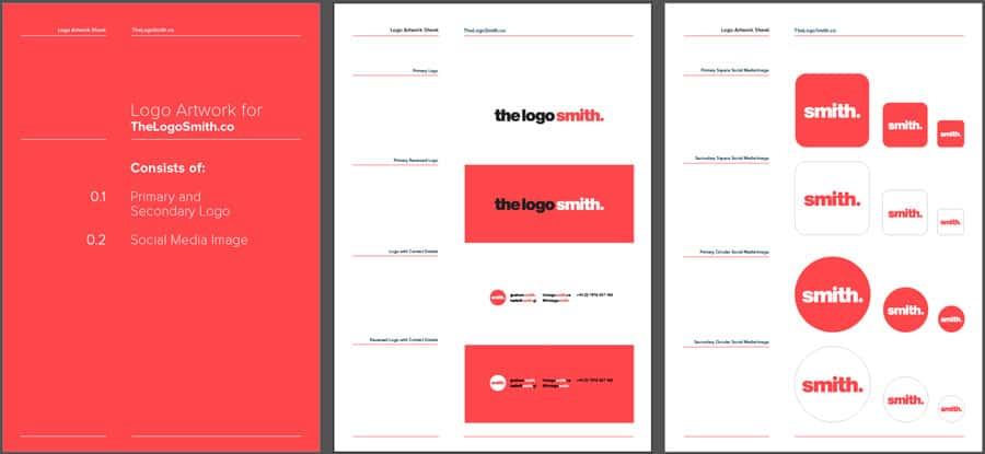 Logo Design Template for Download 3 Page Master Logo Client Sheet
