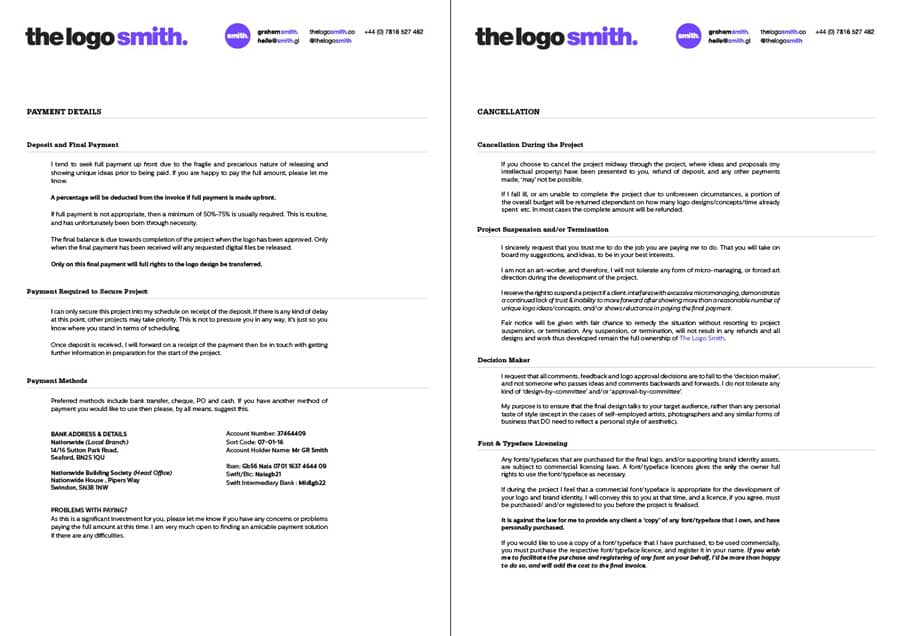 Logo Design Proposal 5 Page Indesign Template for Download