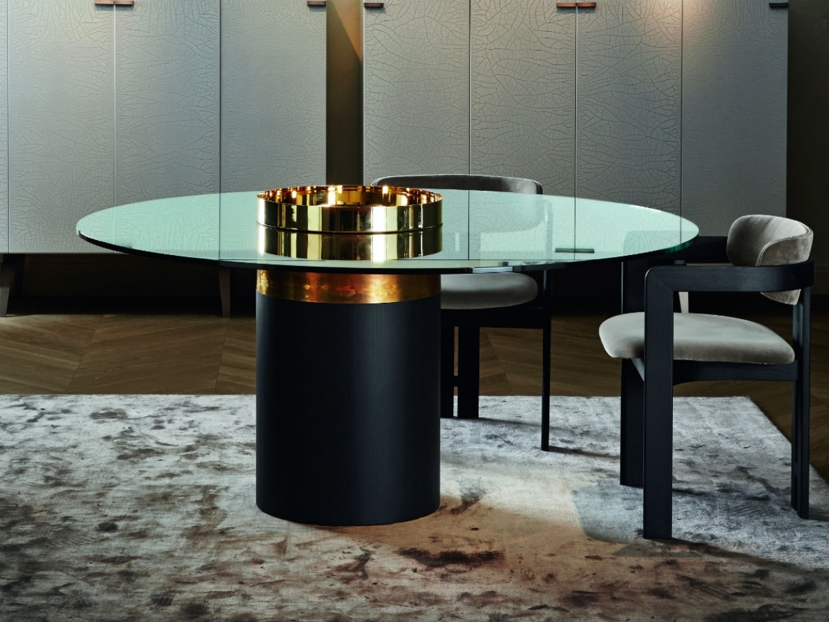 Pied De Table Contemporain Table Design Ronde Haumea T Gallotti Radice Mobilier Design