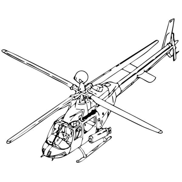 Disegno Di Elicottero Da Colorare Per Bambini