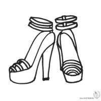 Disegno di Scarpe con Tacco da colorare per bambini ...