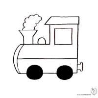 Disegno di Treno a Vapore da colorare per bambini