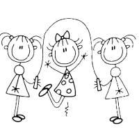 Disegno di Gioco della Corda da colorare per bambini ...