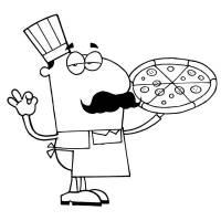 Disegno di Il Pizzaiolo Napoletano da colorare per bambini ...