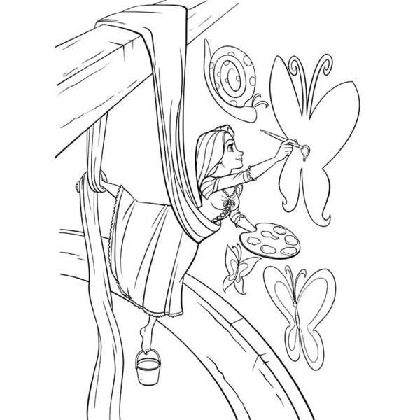 Disegno Di Rapunzel Che Colora Da Colorare Per Bambini