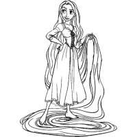 Disegno di Rapunzel Disney da colorare per bambini
