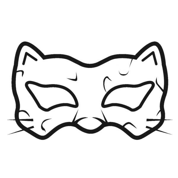 stampa disegno di maschera uomo tigre da colorare