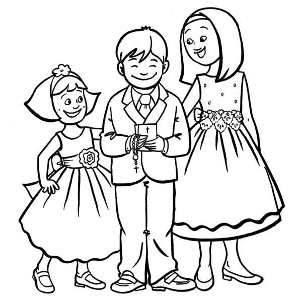 Disegno Di La Prima Comunione Da Colorare Per Bambini