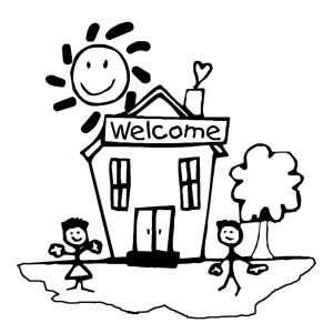 Disegno Di Benvenuti A Scuola Da Colorare Per Bambini