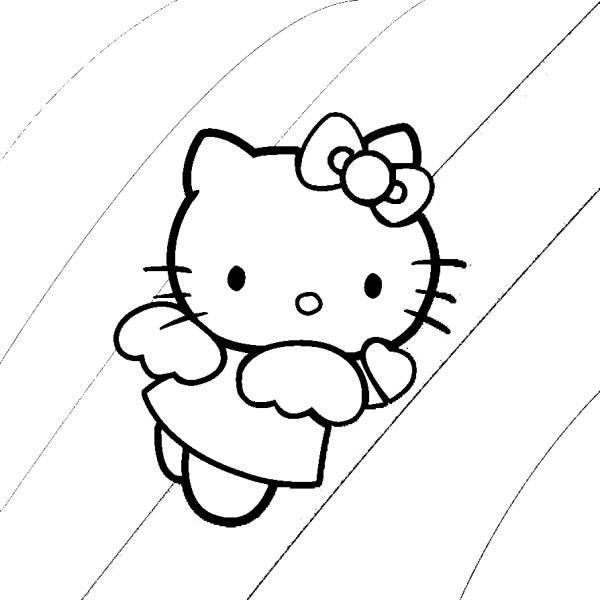 Disegno Di Hello Kitty Angioletto Da Colorare Per Bambini