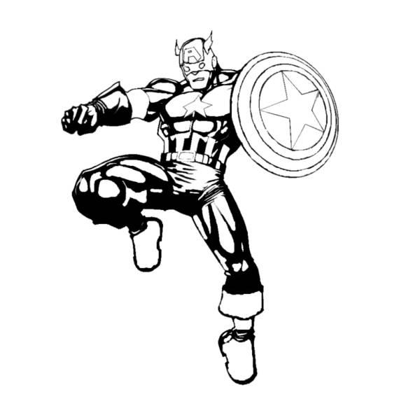 Disegno Di Captain America Da Colorare Per Bambini