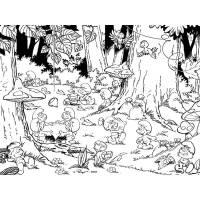 Disegno di Villaggio dei Puffi da colorare per bambini ...