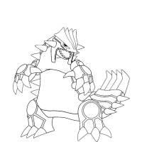 Disegno di Pokemon Groudon da colorare per bambini ...