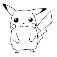 Disegno di Pokemon Pikachu da colorare per bambini ...