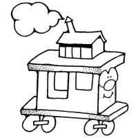 Disegno di Trenino da colorare per bambini