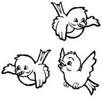 Stampa disegno di Uccellini da colorare