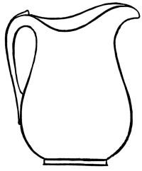 Stampa disegno di Brocca da colorare