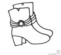 Stampa disegno di Stivali da colorare