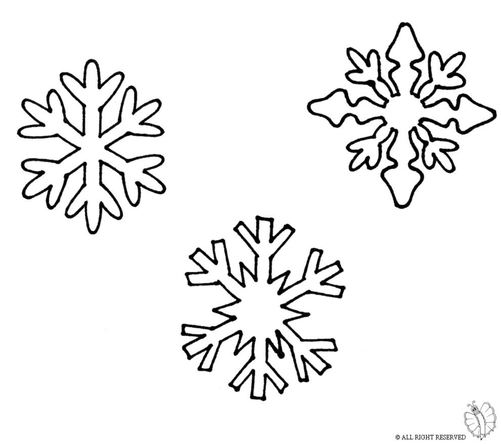 Stampa Disegno Di Fiocchi Di Neve Da Colorare
