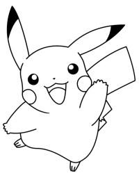 Stampa Disegno Di Pikachu Da Colorare