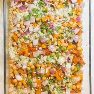 Quinoa with kabocha squash and chickpeas