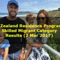 New Zealand Residence Programme – Skilled Migrant Category Results (2 Mar 2017)
