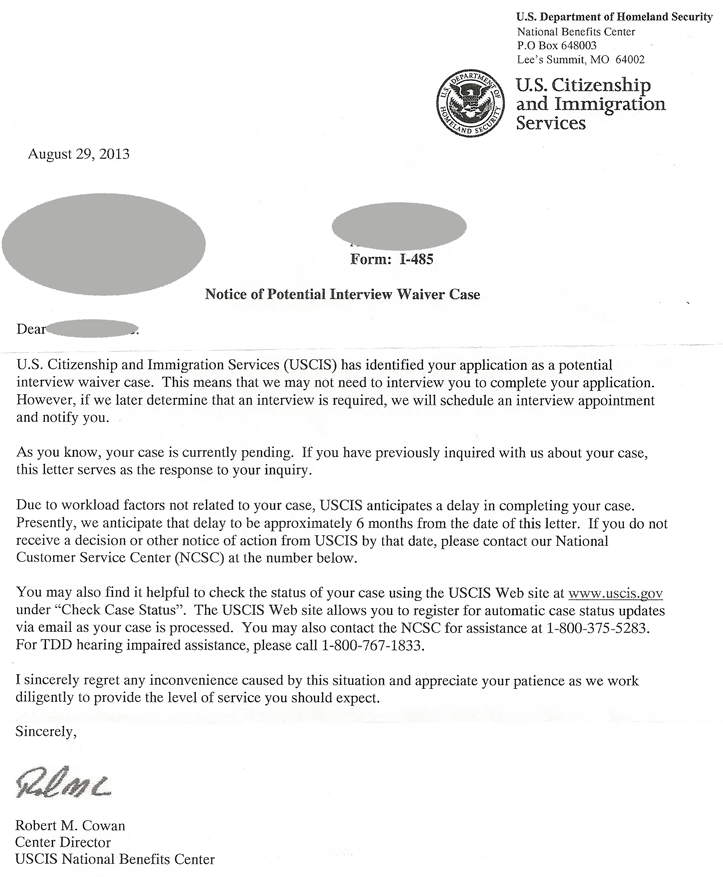 Immigration Waiver Reference Letter For Eb2 National Interest Waiver ...