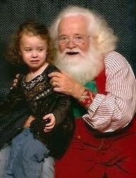 Creepy Santa Scaring Kids MAll