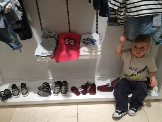 Zara Clothing Store Childrens section