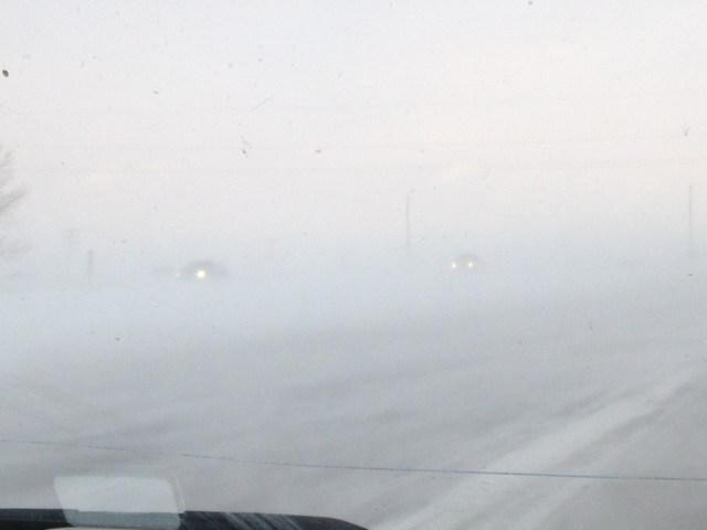 White out on the Highway 1