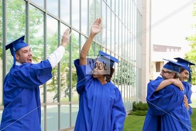 Graduating Students Celebrating