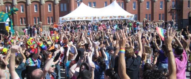 Calgary Pride Party in Millennium Park GAY LGBT